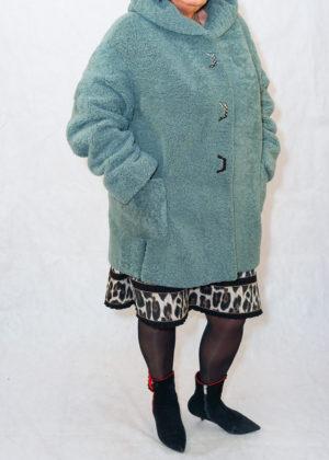 Кёрли куртка с капюшоном мята